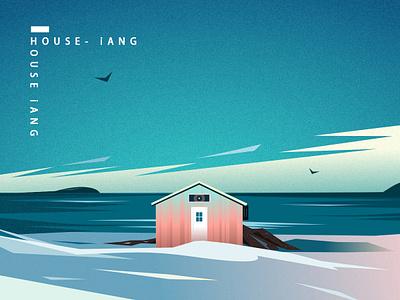 House-买不起画一个 house illustration