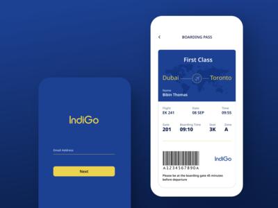 boarding pass boarding pass airline indigo uiux mobile ui branding mobileui mobile ux  ui design ui ux dailyui