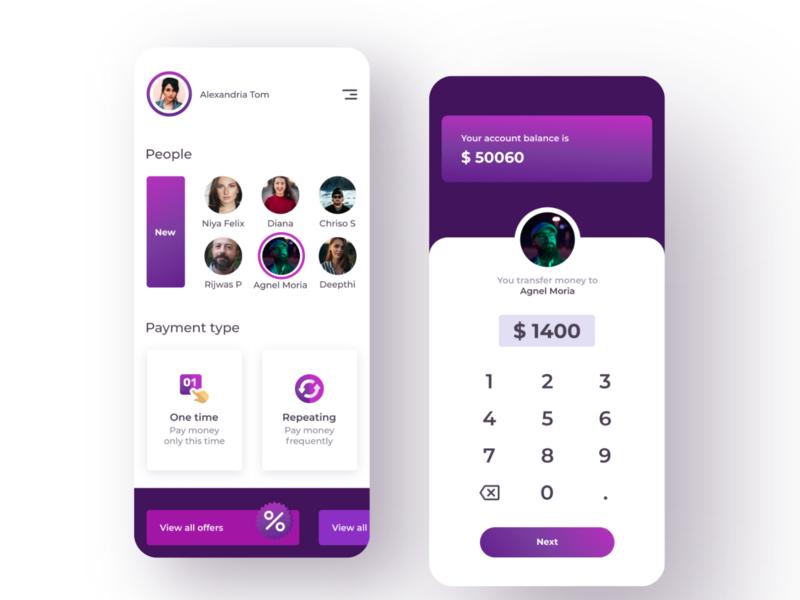 money transfering app typography uiux ui mobile ui mobileui mobile ux  ui design ux dailyui