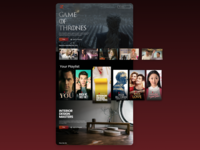 TV App films movies entertainment ux design logo figma sketch dailyui 025 dailyuichallenge dailyui uidesign ui design