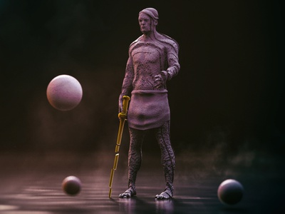 Statue dimitrissakkas cgi render octane otoy cinema4d sculpt statue