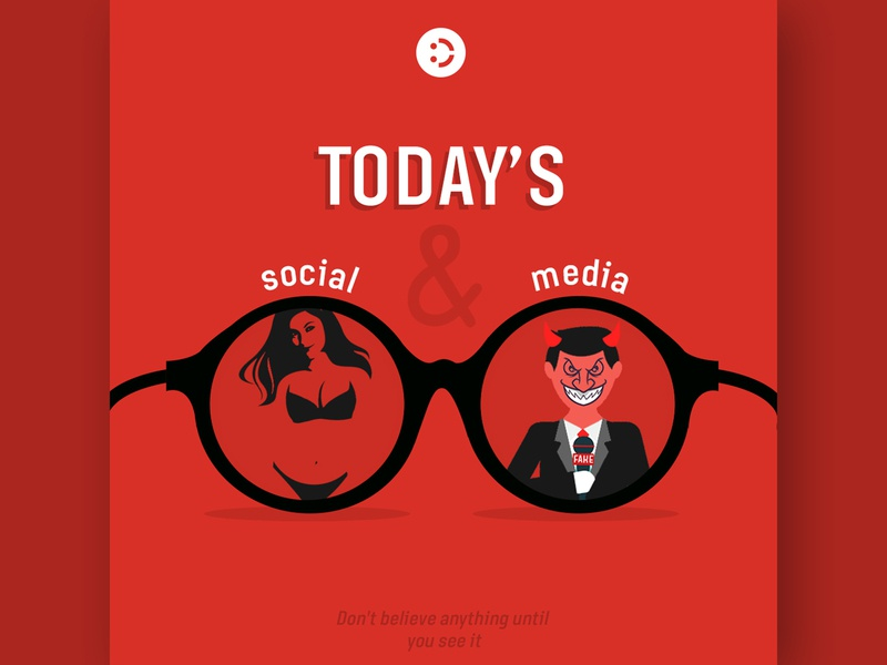 Today's Social & Media illustration creativity logoinspirations mobile homepage design