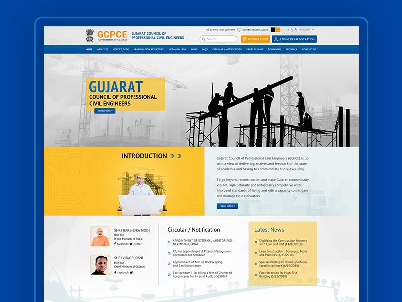 Construction Website vector homepage ui design page landing website