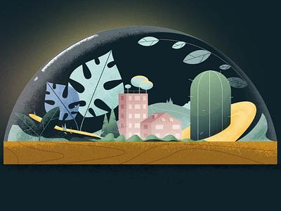 Urban green motiongraphic adobe digital urban city illustration