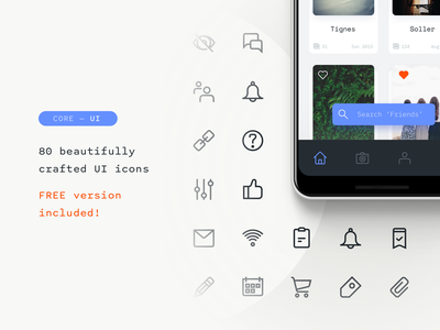 Core UI iconset is live! 32px outlined free download ui ui icons free iconset free icons iconography icons iconset