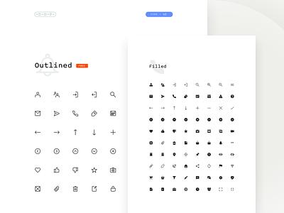 Core UI - Contact Sheet ui icons contact sheet iconset