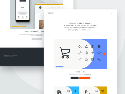 Kit of Parts - New Website! mono minimal interface ui downloads resources icons layout webflow responsive layout responsive website