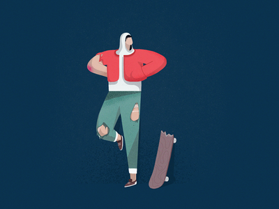 Hanging around jacket stand pants jeans chracterdesign character illustration skate thug hoodie skater