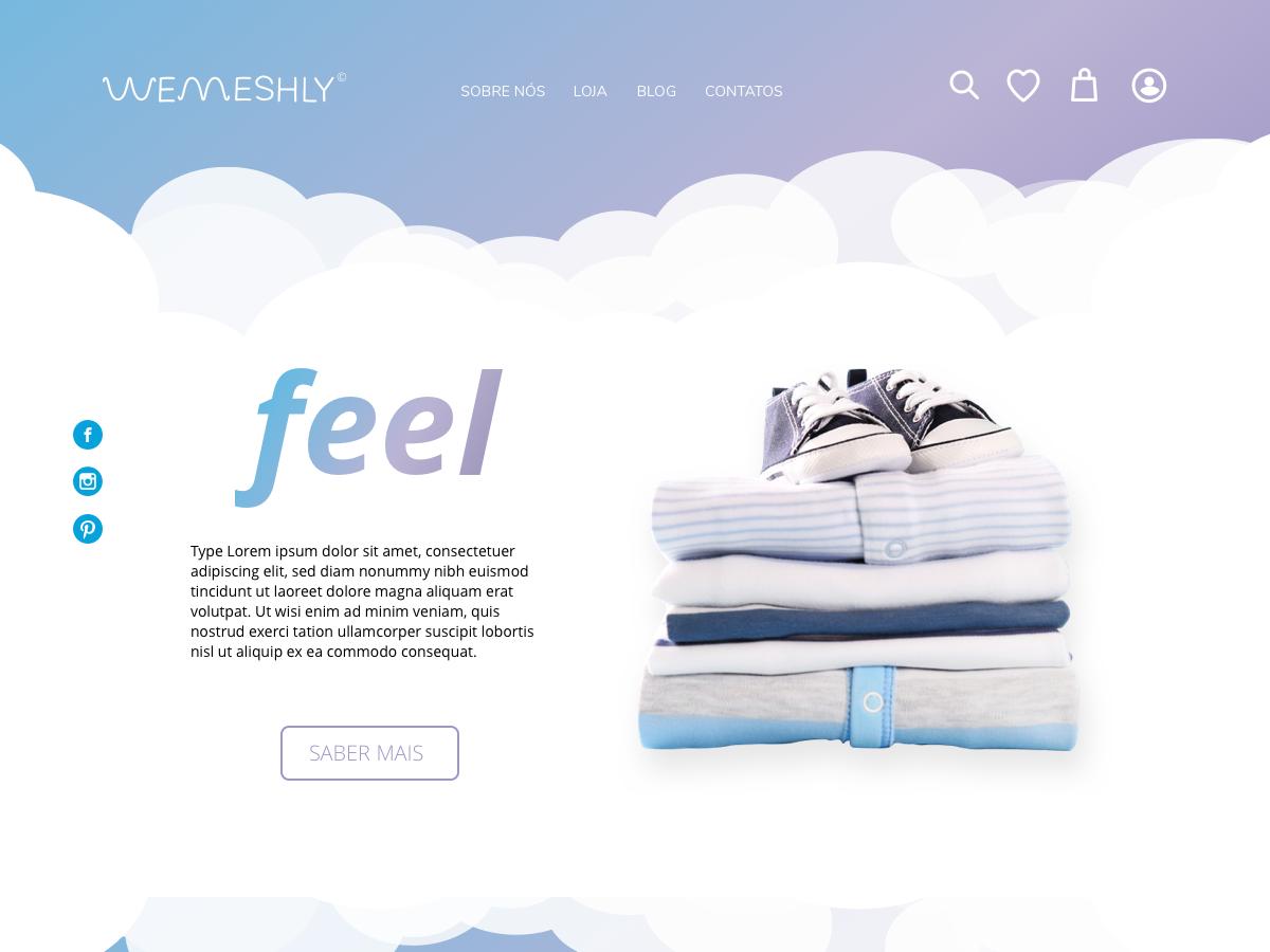 Wemeshly - Desktop Version shop ui ux design material e-commerce clothes baby