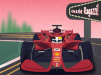 Illustration of Ferrari with Seb5