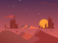 30 minute illustration - Desert