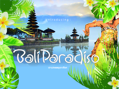 Bali Paradiso Font easy and fun  font simple