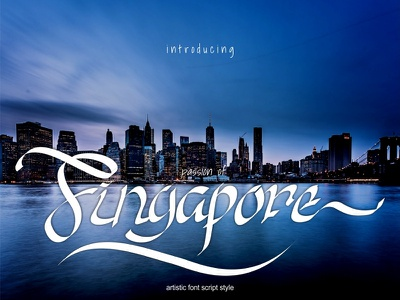 Passion Of Singapore style font artistic