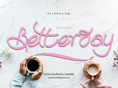 Betterday Calligraphic Style