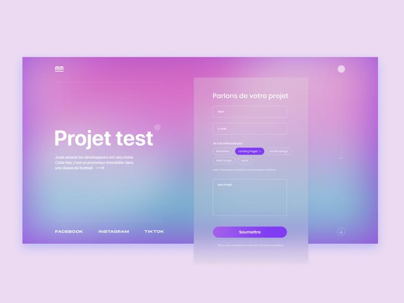Customers form for website gradient webstudio customers form design forms ui ux design web