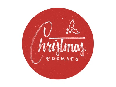 Christmas Cookie Hang Tag cookies christmas gift lettering hang tag hand lettering