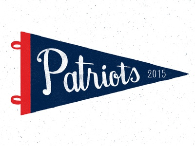 Pats Pennant patriots football superbowl pats pennant flag lettering 2015 new england hand lettering