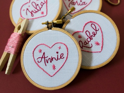 Handmade Valentine Exchange Pt.1 lady scrib stitches love handmade embroidery lettering valentine