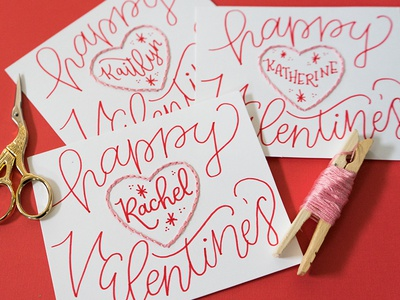 Handmade Valentine Exchange Pt.2 valentine love lettering lady scrib stitches handmade embroidery
