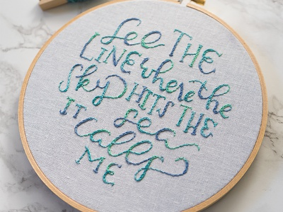 And no one knowwwws how far it goeeeessss. moana lettering lady scrib stitches handmade embroidery