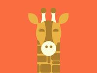 Dribbble giraffe
