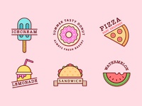 Summer Food Badges