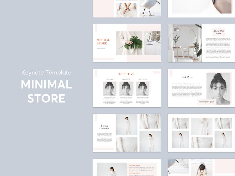 Minimal Store Presentation slides presentation product layout template keynote design graphic store minimal
