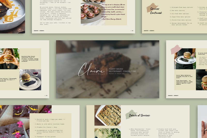 Claire Presentation Template by Jurate on Dribbble