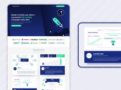 GetFound XL web page redesign