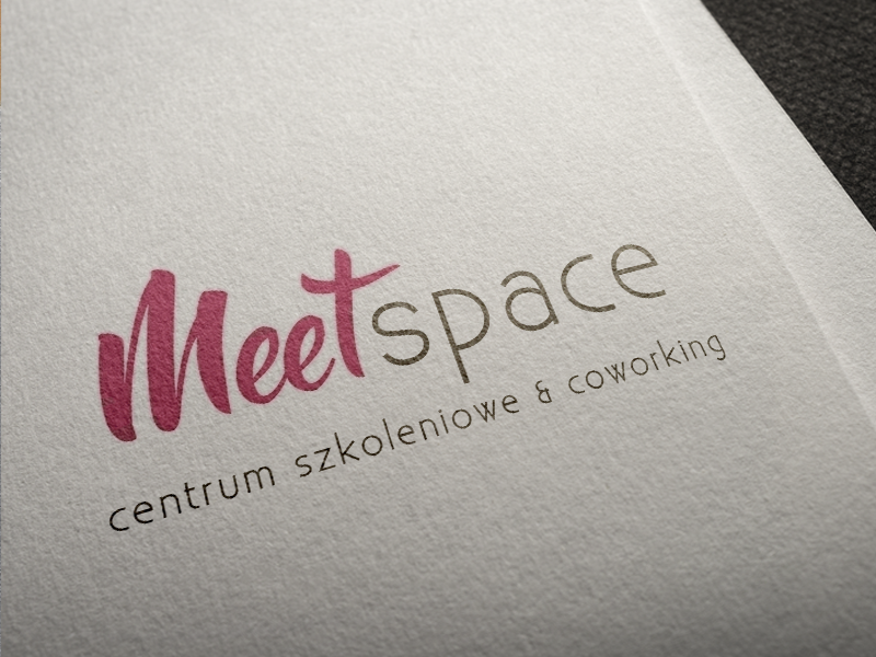 Meetspace team people meet coworking center work designe font pink brand space logo
