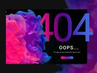 008 DailyUI challenge 404 page