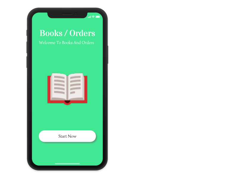 Books And Orders ui ux