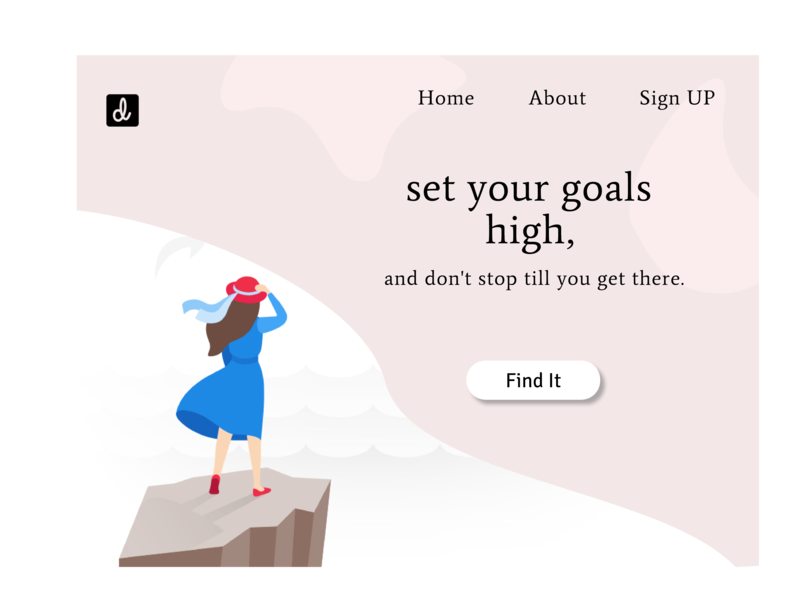 Goals Dribbble vector design ux ui