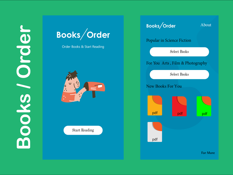 Books and order design illustration