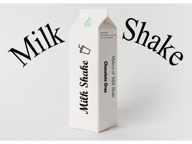 Milk Shake Pack design illustration