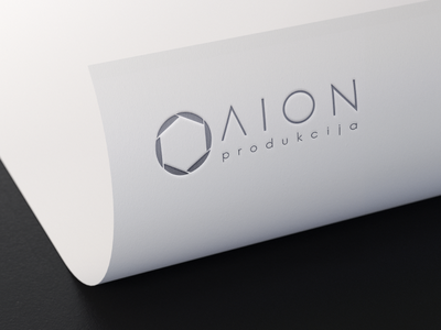 Aion production logo cameralens lens productioncompany typography adobeillustrator aionproduction logodesignchallenge logo logoidea logodesign