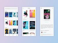 Bookworm mobile app concept