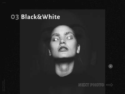 Typography / Layout exploration vol.2  - Black&White