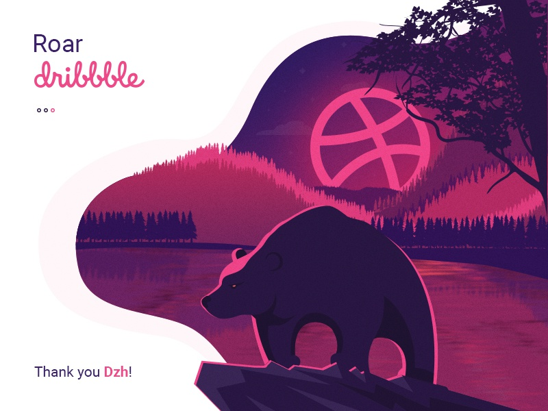 Hello Dribbblers! bear flat clean graphic design web design ui ux design ux design ui design welcome debut shot debut responsive design illustration landing page user experience web ux ui