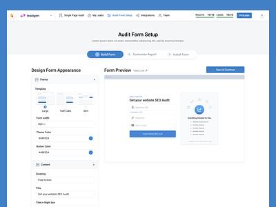 Keyword.com leadgen Form Setup forms get audit sign up form design embeded search engine optimization webiste audit seo setup form onboarding setup form