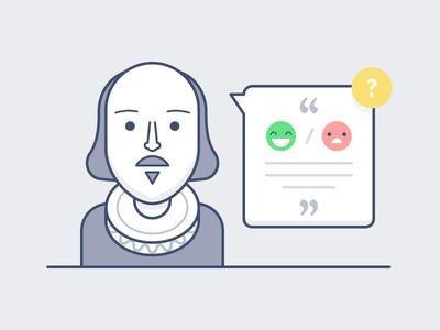 The Question marketing emoji smile illustration shakespeare
