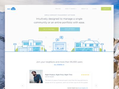 Payhoa Homepage landing financial marketing management homes website uxui