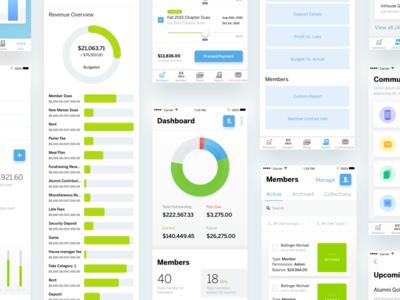 Legfi Ios App iphone application app list graph money dashboard product design ui ux ios