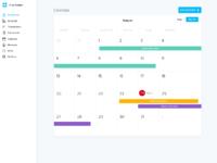 Dashboard v2 calendar