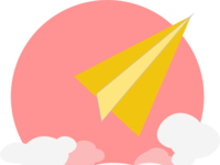 Paper Airplane & Clouds