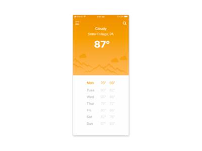 Weather App Design