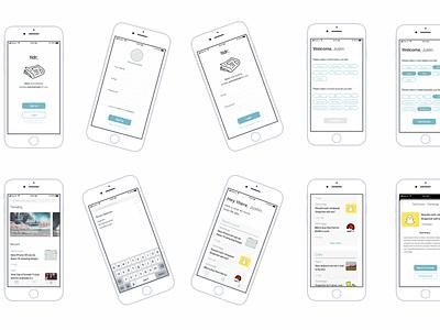 Tldr; App Idea flat design ui design summarized news summary news portal news feed ui  ux mobile app design mobile app news app