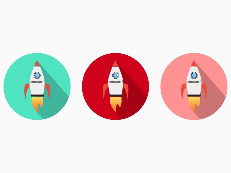 3 Rockets icon cartoon flat design visual design graphic art space design logo 2d logo minimal logos rocket rocketship