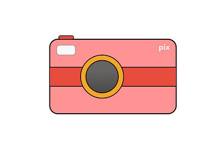 Flat Camera pastel colors flat camera photography branding minimal art logo vector ui graphic  design graphic art illustration icon cartoon flat design picture camera logo camera icon camera