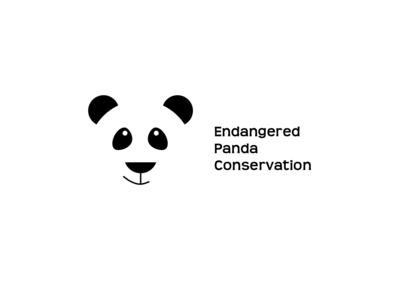 Panda Logo ui branding minimal art graphic  design graphic art design cartoon illustration icon flat design logo animal graphic animals illustrated animals animal art animal endangered species endangered panda panda bear
